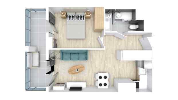 Mieszkanie 39.98 m2