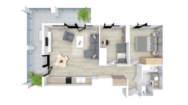 Mieszkanie 57.16 m2