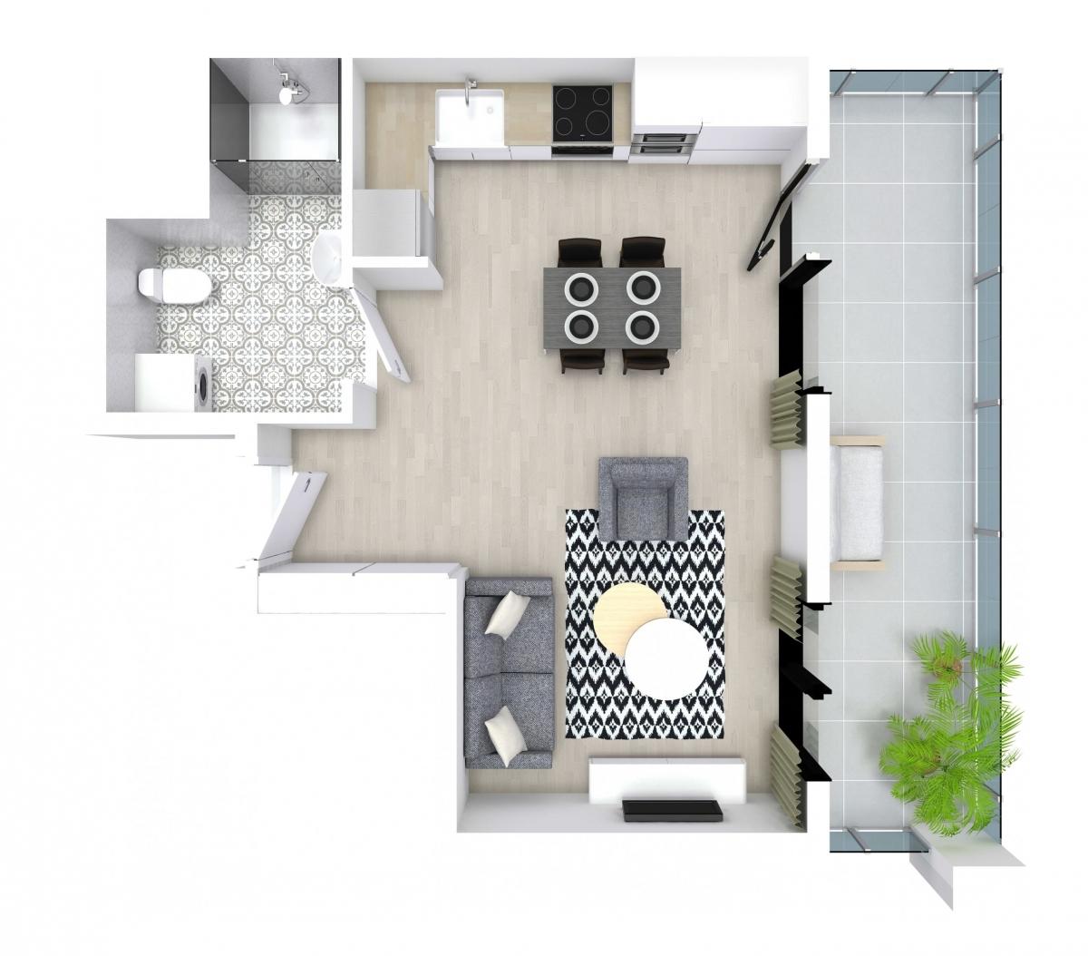 Mieszkanie 29,26 m2, Kwiatkowskiego 4, Rzeszów