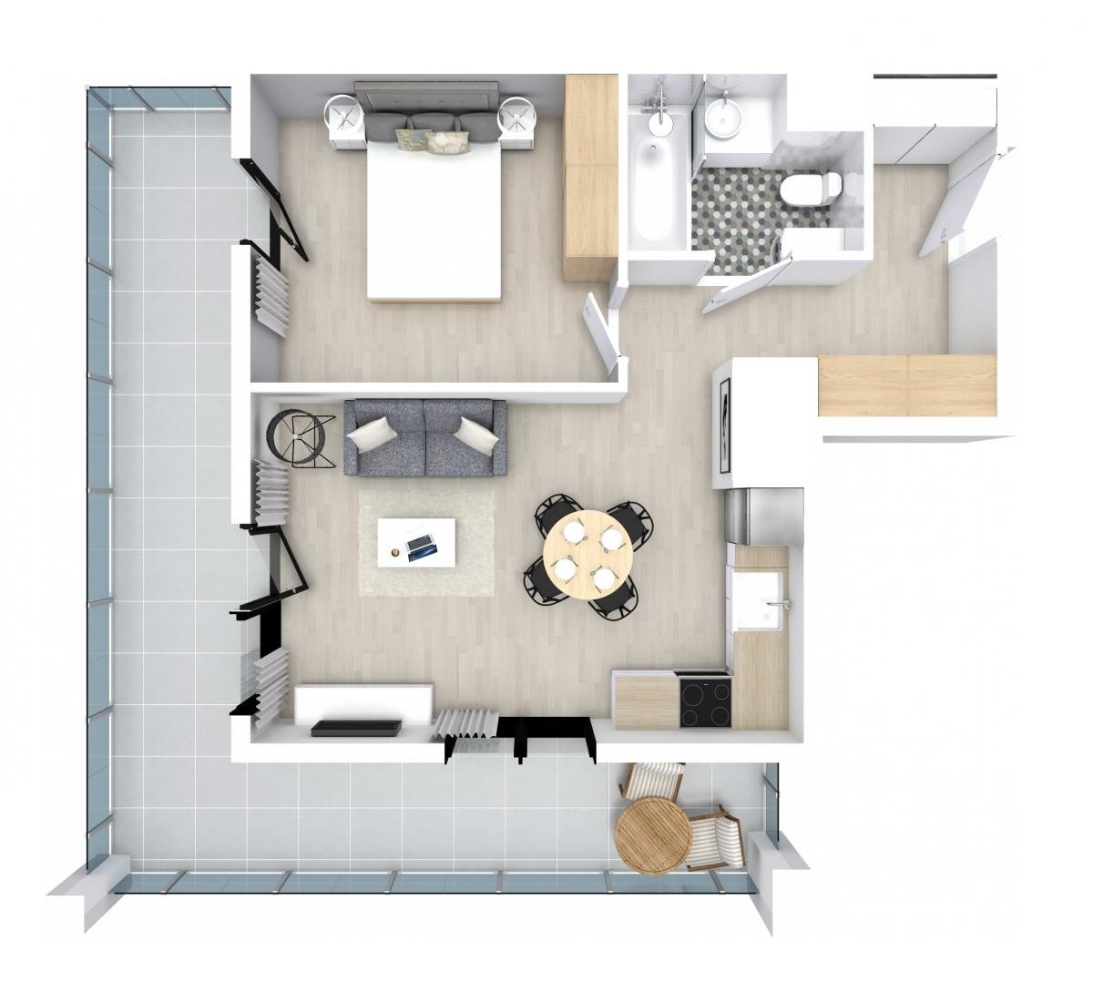 Mieszkanie 39,83 m2, Kwiatkowskiego 4, Rzeszów