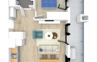 Mieszkanie 43,93 m2, Kwiatkowskiego 4, Rzeszów