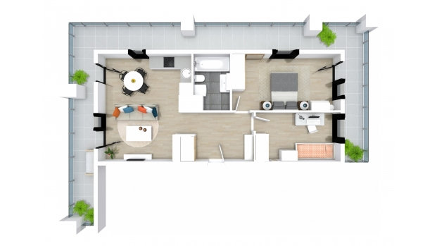 Mieszkanie 62.62 m2