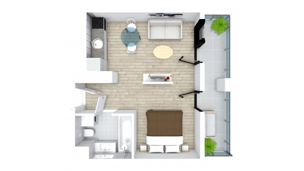 Mieszkanie 30.72 m2