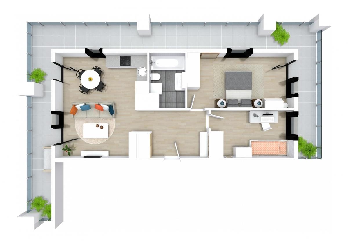Mieszkanie 63,05 m2, Kwiatkowskiego 4, Rzeszów