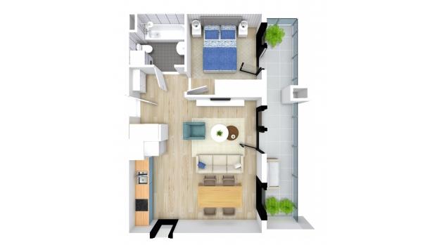 Mieszkanie 44.17 m2
