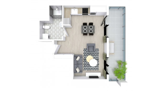 Mieszkanie 30.35 m2