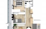 Mieszkanie 48,72 m2, Kwiatkowskiego 4, Rzeszów