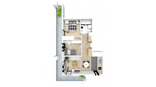 Mieszkanie 48.72 m2