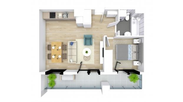 Mieszkanie 43.92 m2