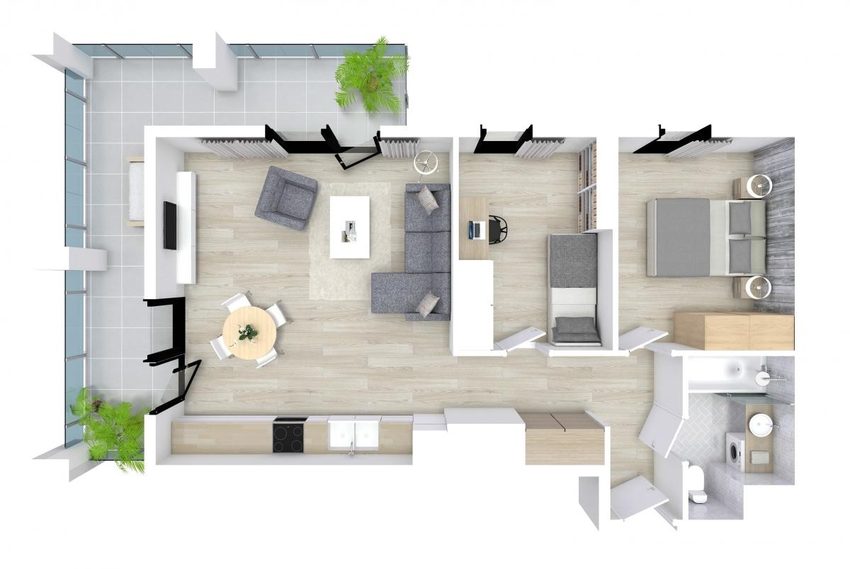 Mieszkanie 57,09 m2, Kwiatkowskiego 4, Rzeszów