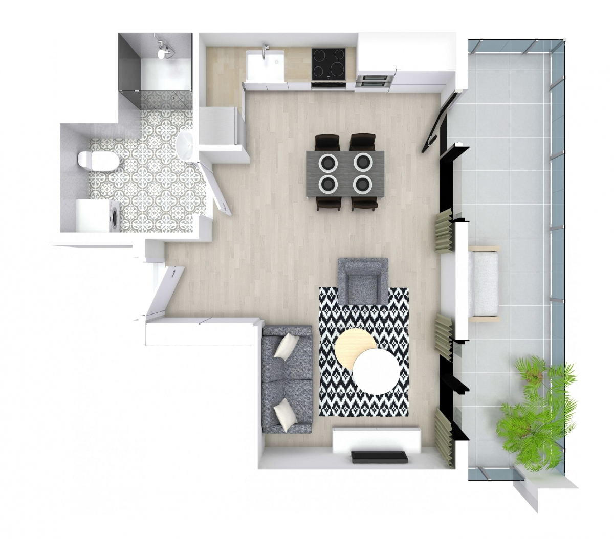 Mieszkanie 29,3 m2, Kwiatkowskiego 4, Rzeszów