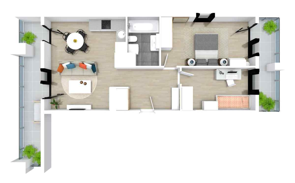Mieszkanie 62,48 m2, Kwiatkowskiego 4, Rzeszów