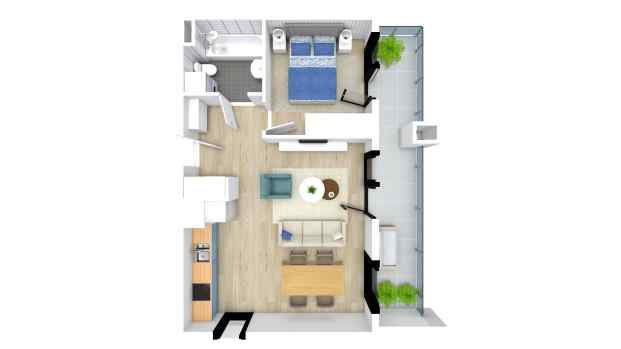 Mieszkanie 43.89 m2