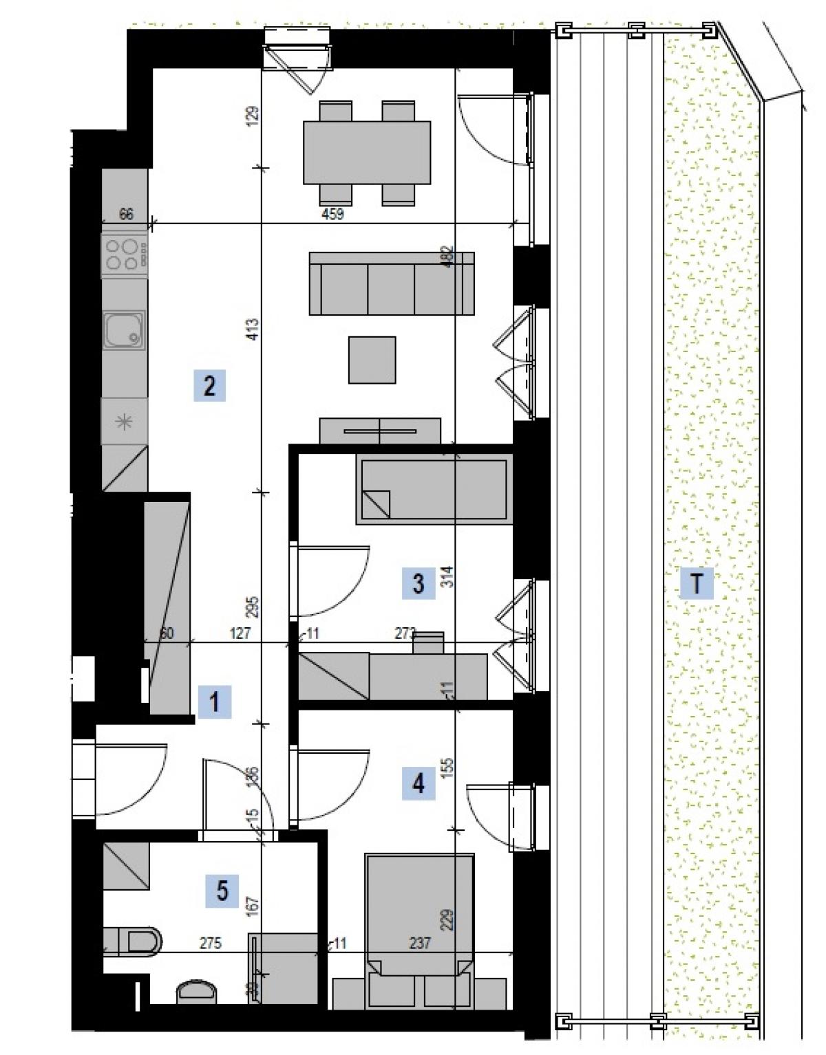 Mieszkanie 58,23 m2, Kwiatkowskiego 4, Rzeszów
