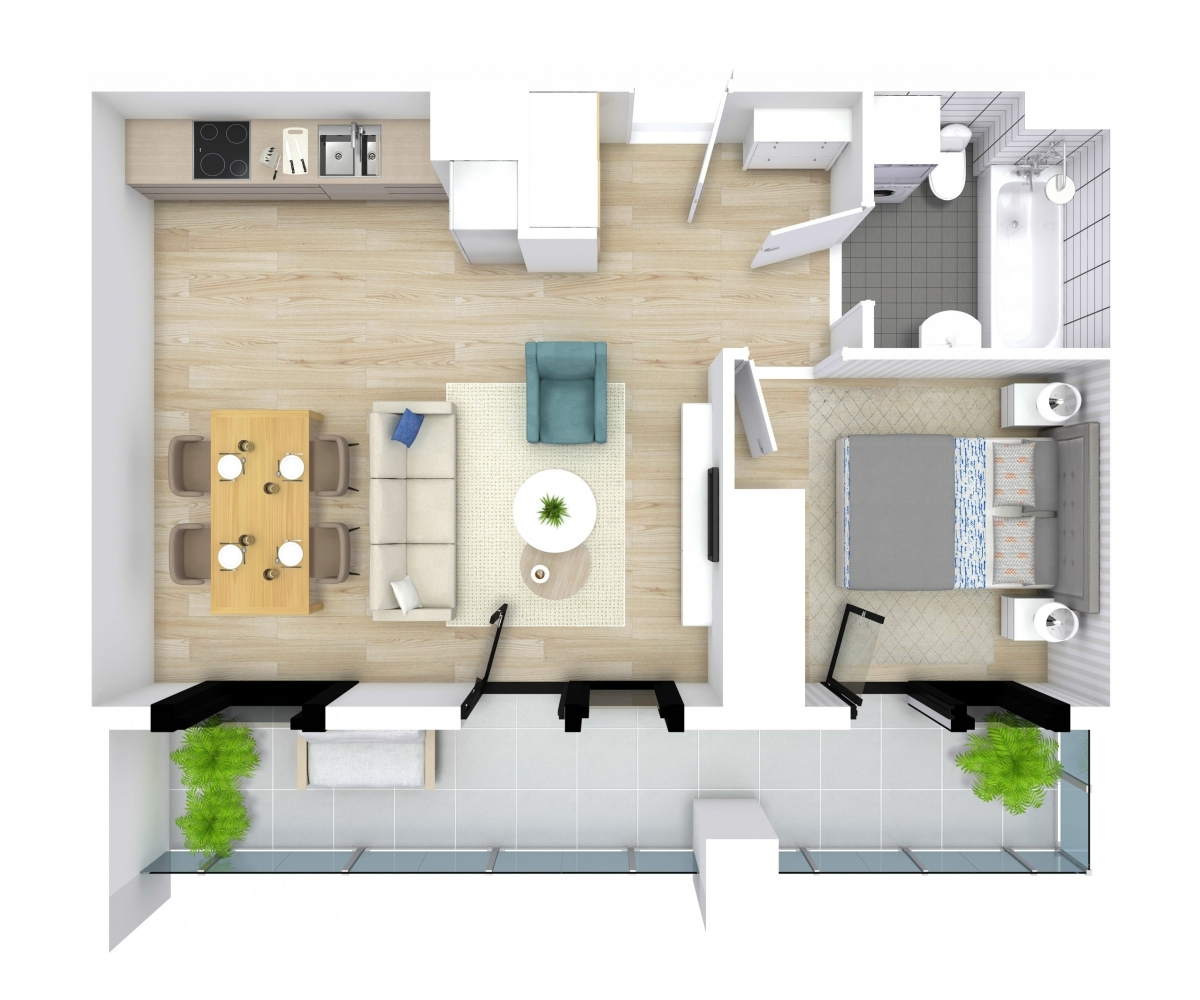 Mieszkanie 44,26 m2, Kwiatkowskiego 4, Rzeszów