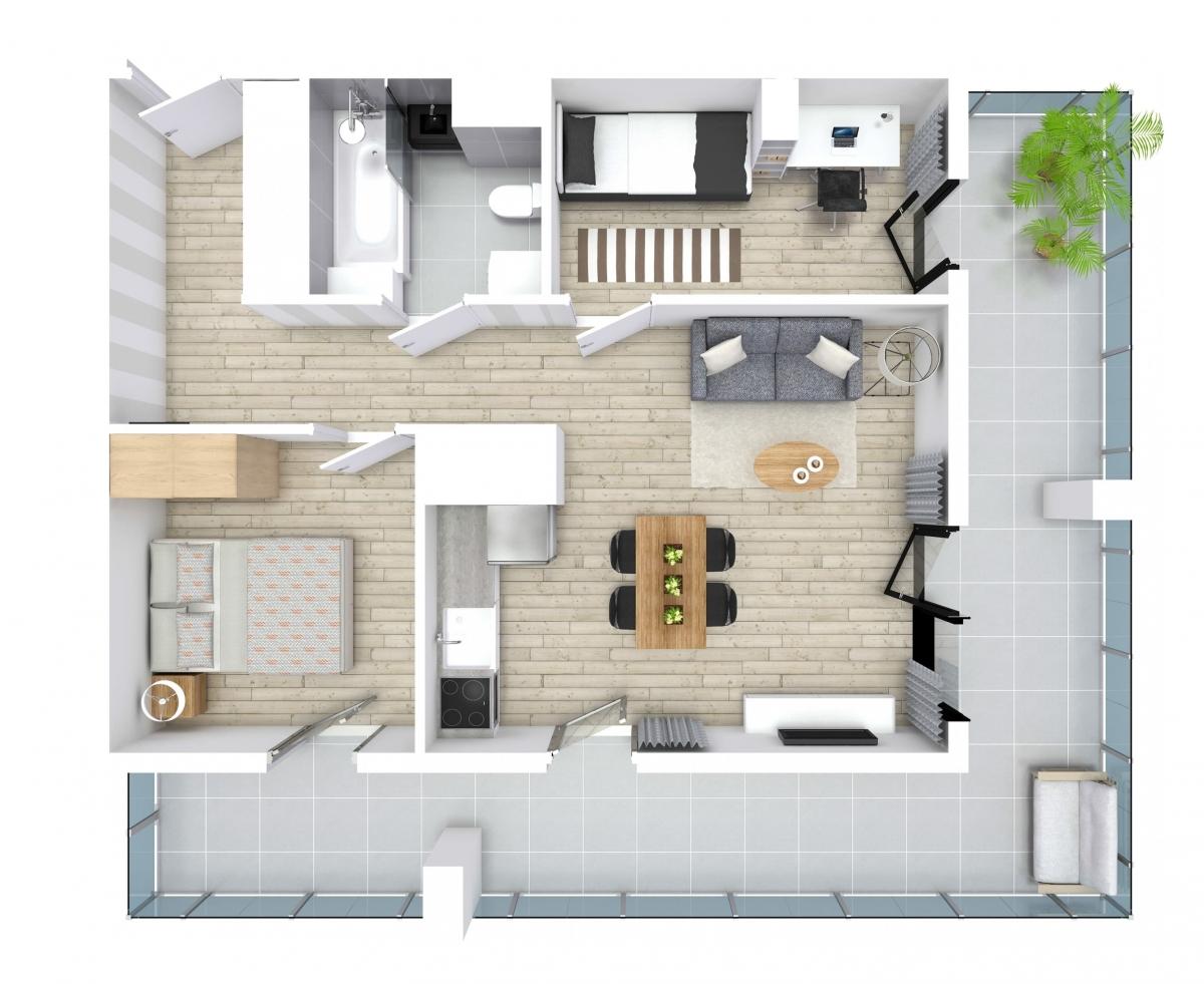 Mieszkanie 50,04 m2, Kwiatkowskiego 4, Rzeszów