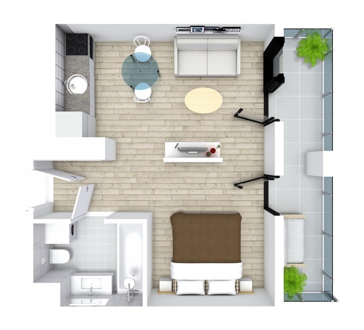 Mieszkanie 30,85 m2, Kwiatkowskiego 4, Rzeszów