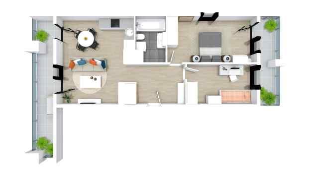 Mieszkanie 62.80 m2