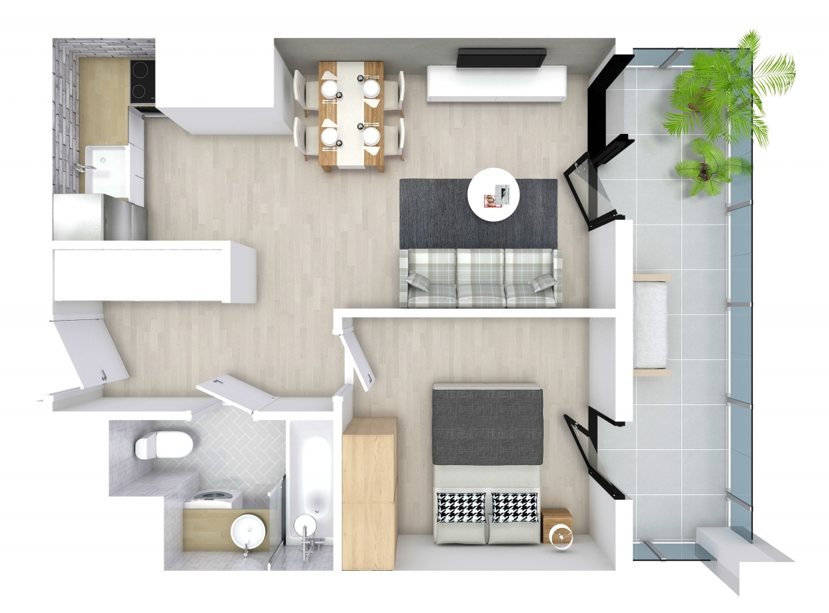 Mieszkanie 34,4 m2, Kwiatkowskiego 4, Rzeszów