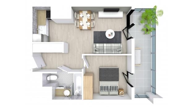 Mieszkanie 34.34 m2
