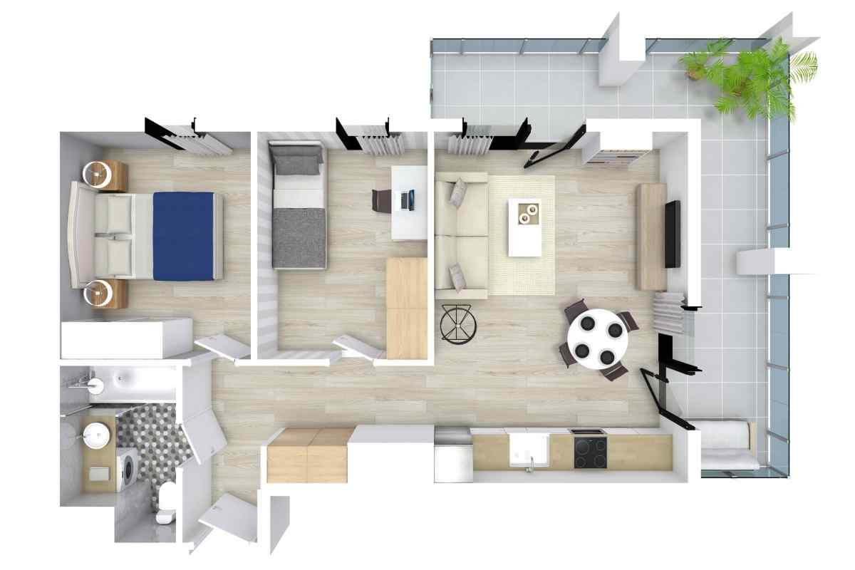 Mieszkanie 51,8 m2, Kwiatkowskiego 4, Rzeszów