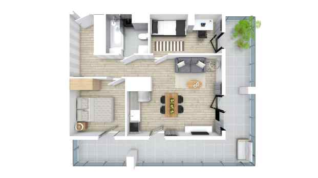 Mieszkanie 50.09 m2