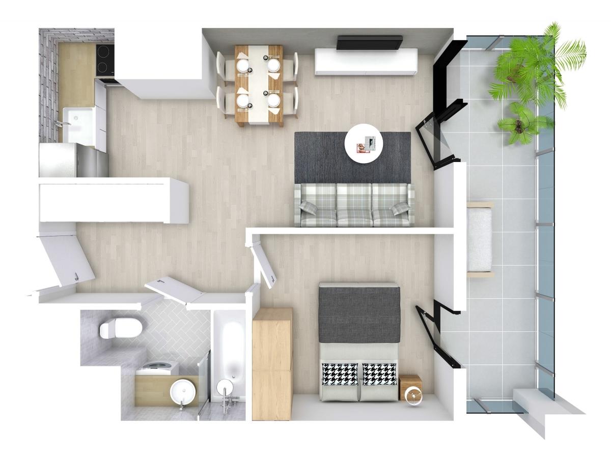 Mieszkanie 34,43 m2, Kwiatkowskiego 4, Rzeszów