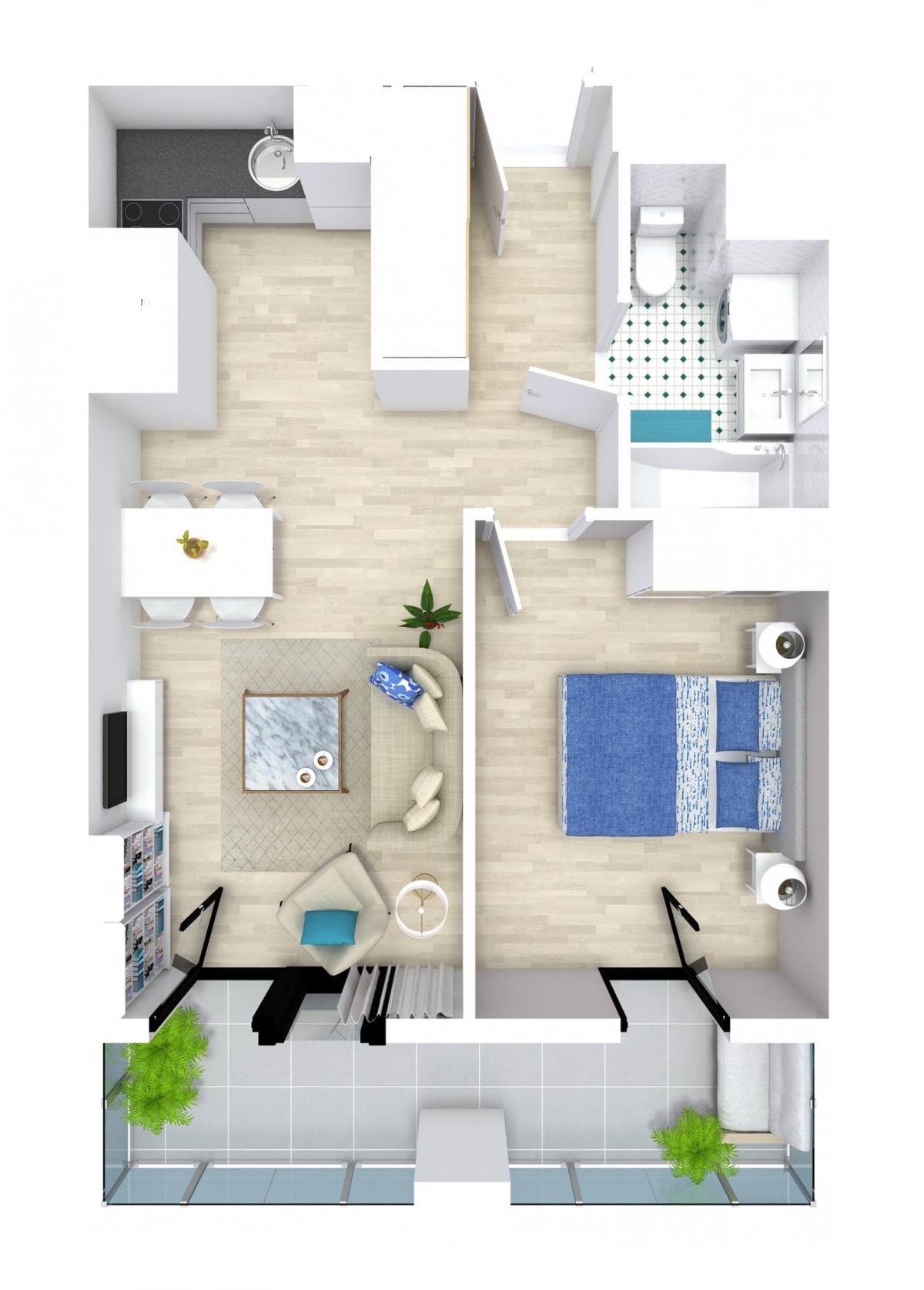 Mieszkanie 40,02 m2, Kwiatkowskiego 4, Rzeszów