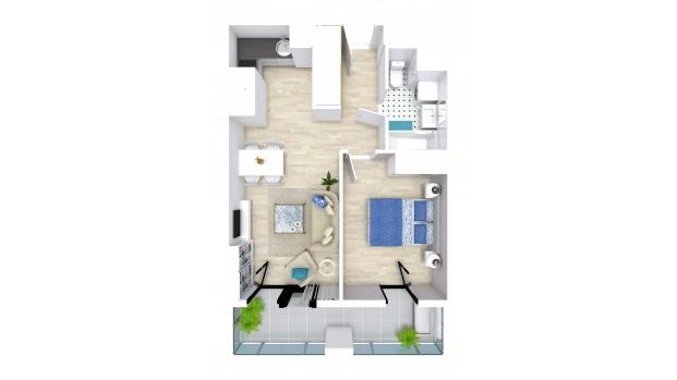 Mieszkanie 40.02 m2