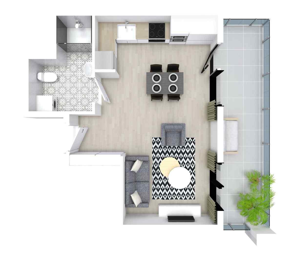 Mieszkanie 29,18 m2, Kwiatkowskiego 4, Rzeszów