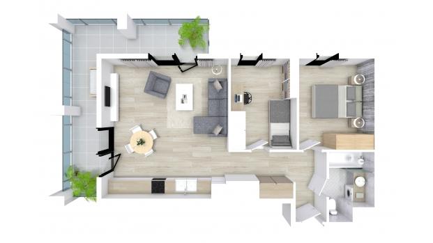 Mieszkanie 57.49 m2