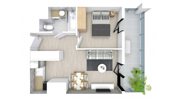 Mieszkanie 34.36 m2