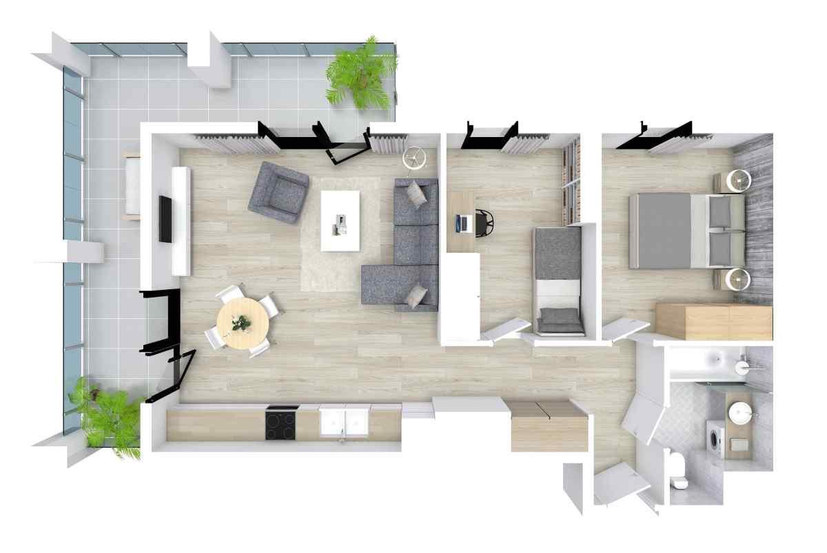 Mieszkanie 57,17 m2, Kwiatkowskiego 4, Rzeszów