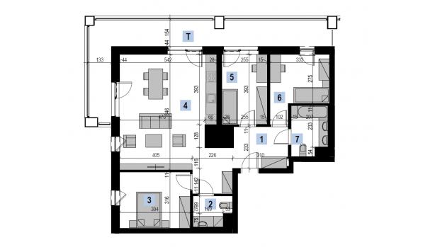 Mieszkanie 87.22 m2