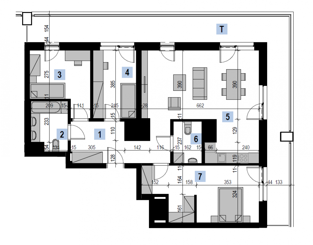 Mieszkanie 92,67 m2, Kwiatkowskiego 4, Rzeszów