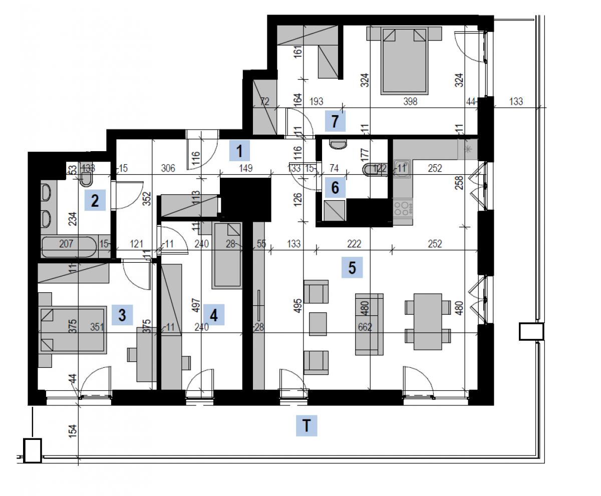 Mieszkanie 106,55 m2, Kwiatkowskiego 4, Rzeszów