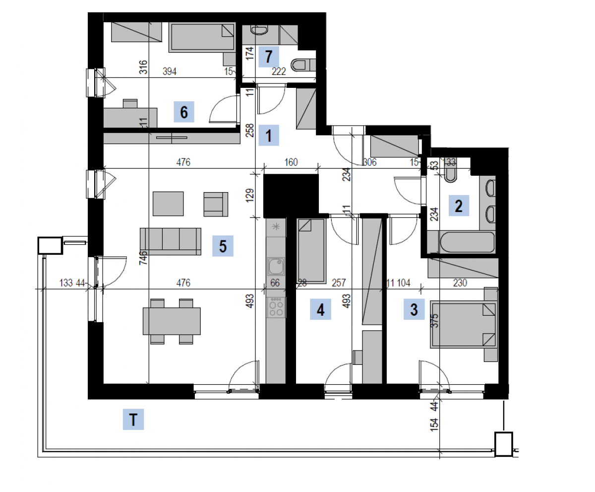Mieszkanie 98,69 m2, Kwiatkowskiego 4, Rzeszów