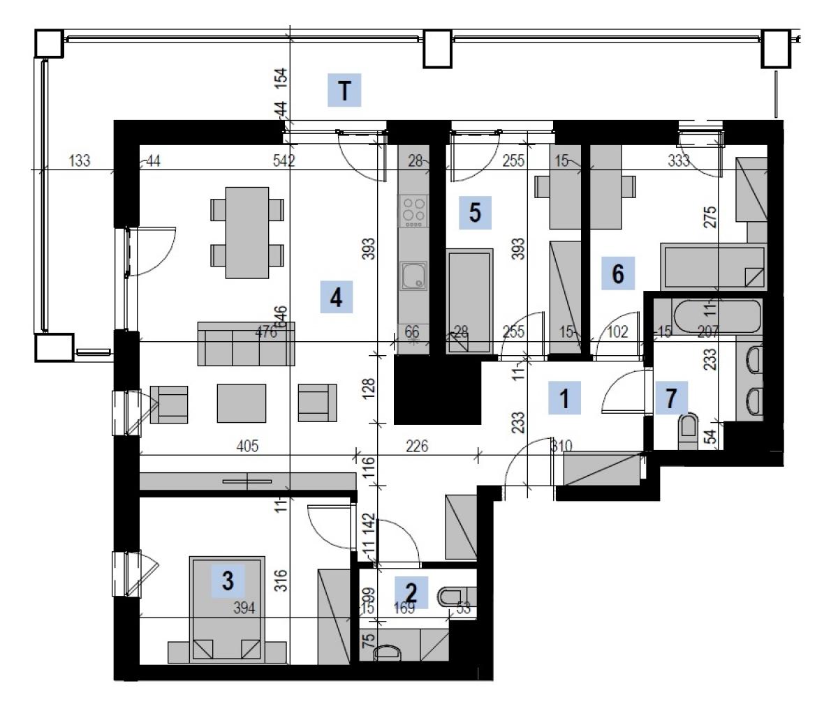 Mieszkanie 86,88 m2, Kwiatkowskiego 4, Rzeszów