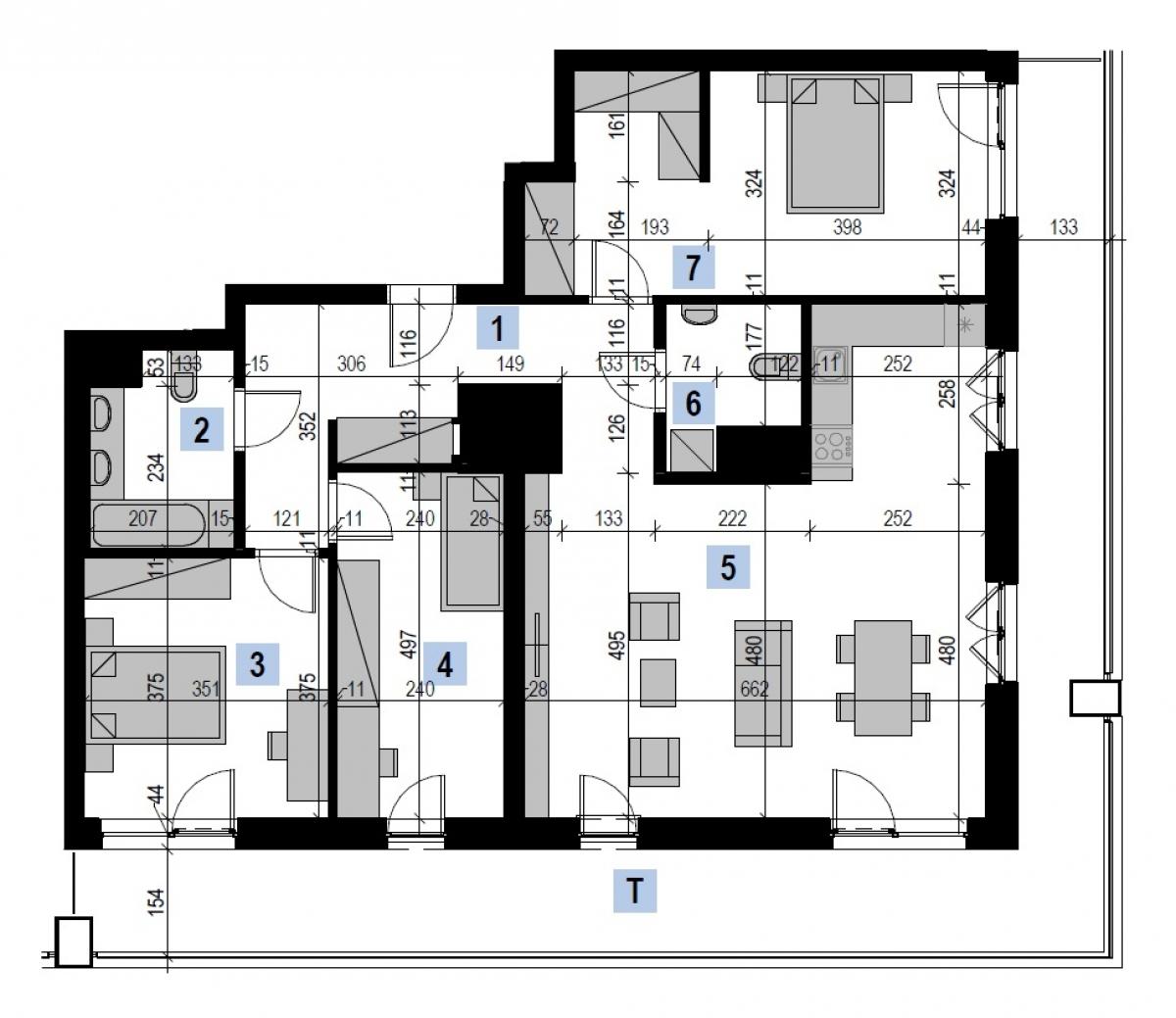 Mieszkanie 106,33 m2, Kwiatkowskiego 4, Rzeszów