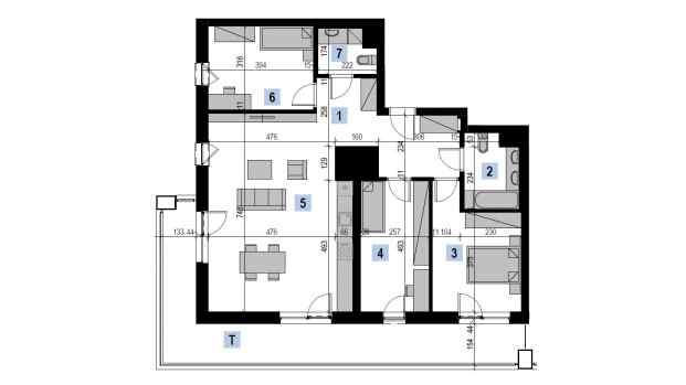 Mieszkanie 98.69 m2