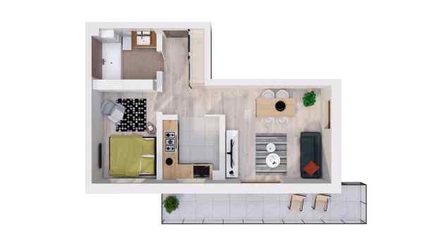 Mieszkanie 44.70 m2