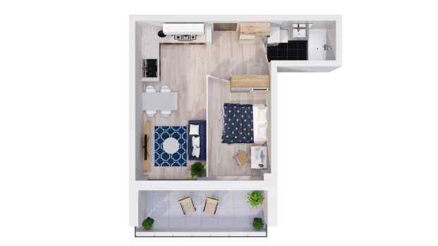 Mieszkanie 40.16 m2