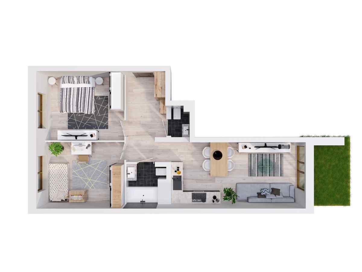 Mieszkanie 63,23 m2, Lubelska, Rzeszów