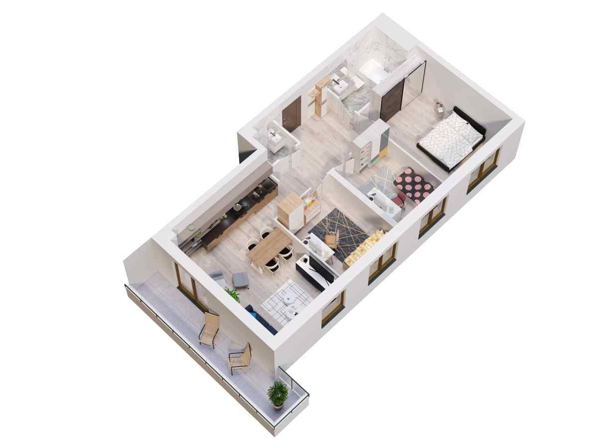 Mieszkanie 73,05 m2, Lubelska, Rzeszów