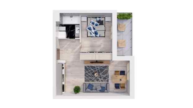 Mieszkanie 37.65 m2