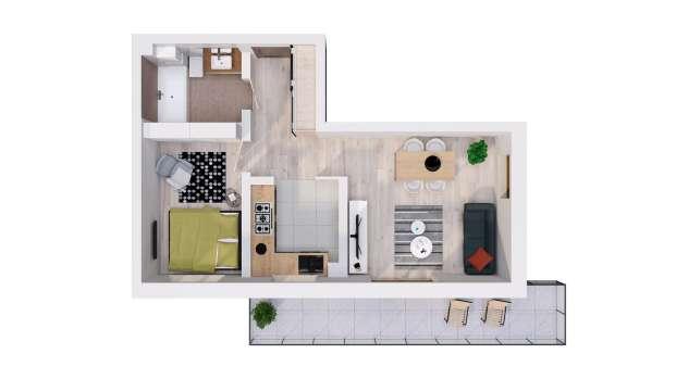 Mieszkanie 44.76 m2