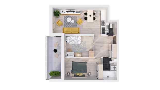 Mieszkanie 60.17 m2