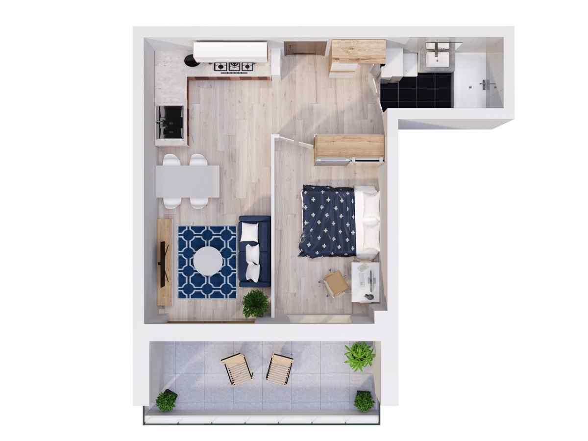 Mieszkanie 40,16 m2, Lubelska, Rzeszów