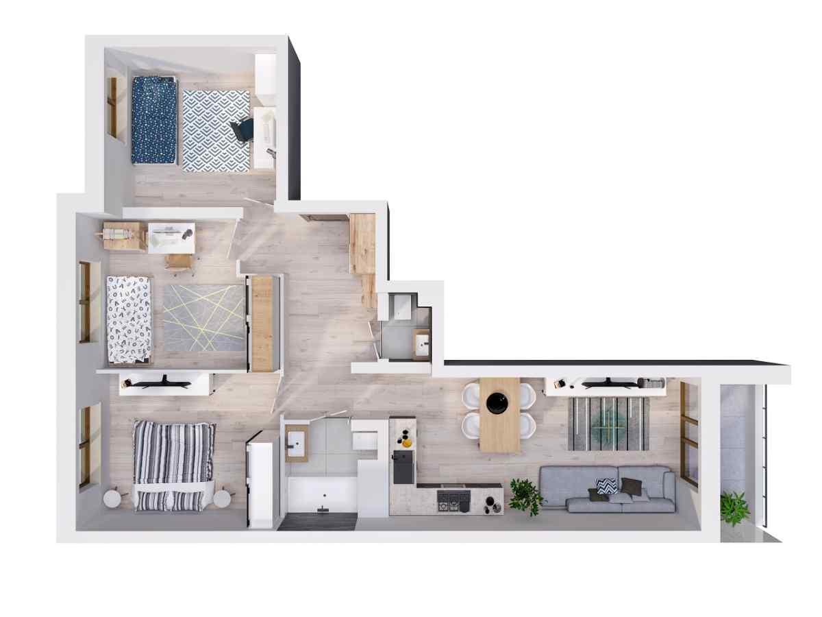 Mieszkanie 74,75 m2, Lubelska, Rzeszów