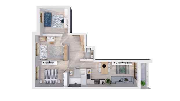 Mieszkanie 74.92 m2